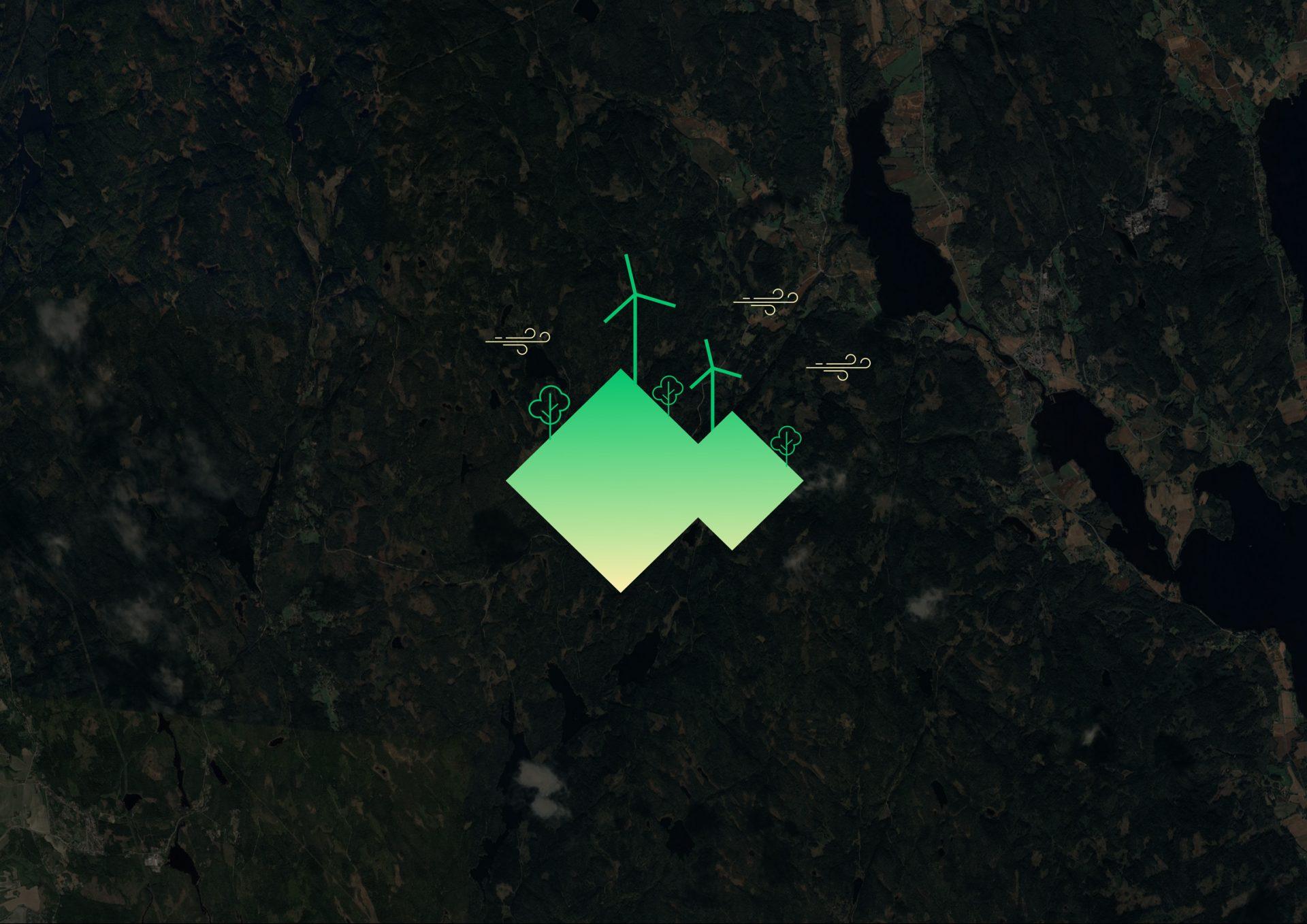 Nord-Odal kartillustrasjon