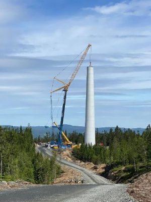 WTG8 ferdig betongtårn